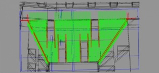 Partial 3D reinforcement of parts of a building